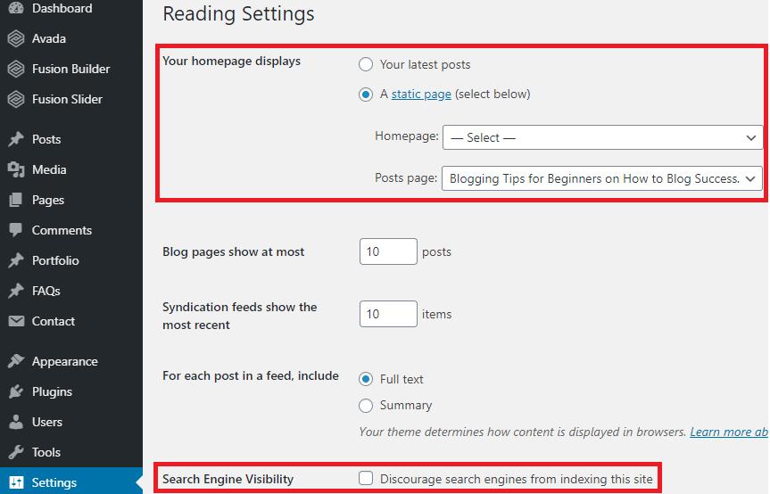 Setting-reading